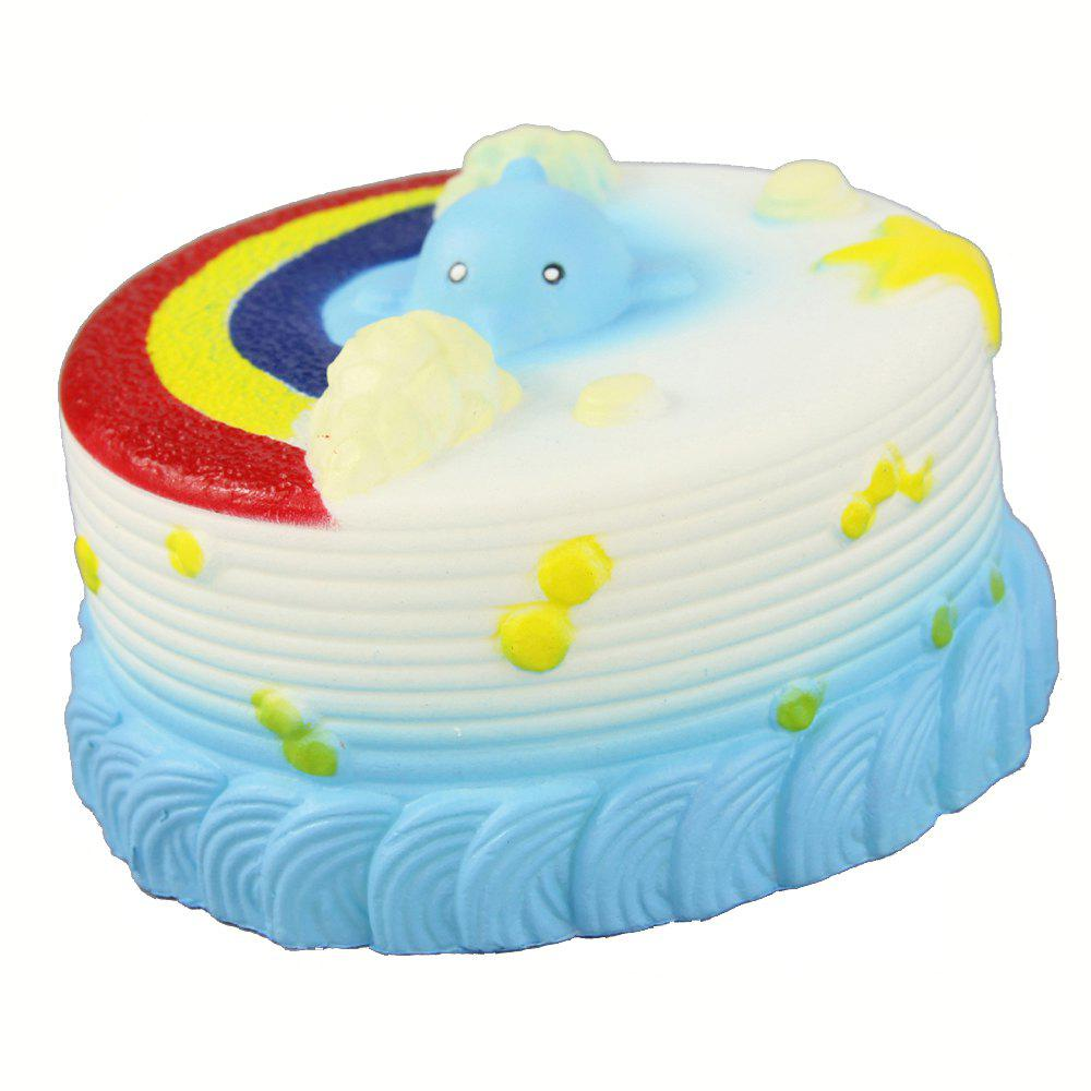 Fashion Jumbo Squishy Sea Cake Relieve Stress Toy
