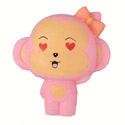 Jumbo Squishy Pink Monkey Relieve Stress Toys -