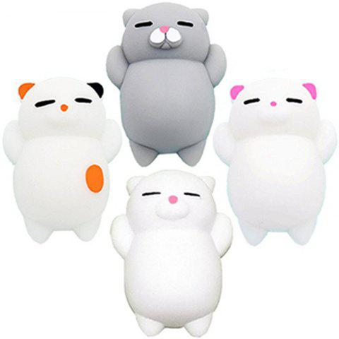 Mini Mochi Jouets Stress Animaux Décoration Jumbo Squishy Cat 4PCS