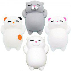 Mini Mochi Jouets Stress Animaux Décoration Jumbo Squishy Cat 4PCS -