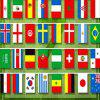 Football 32 Country  Flag String -