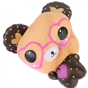 Jumbo Squishy Slow Rising Kawaii Mignon Lunettes Ours Jouet -