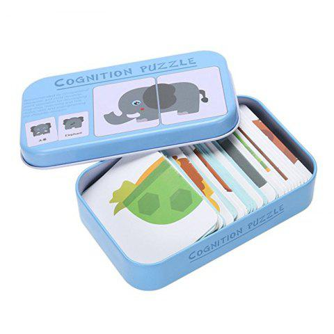 Baby Learn English Pair Puzzle Cognitive Card Infant 32pcs / Box