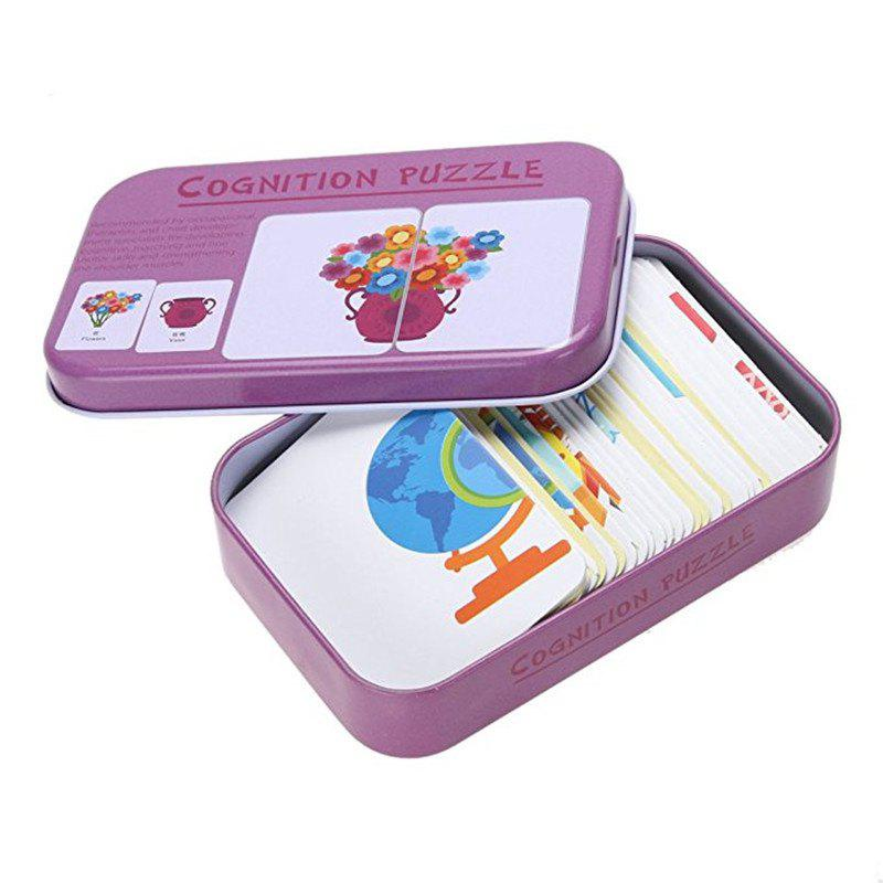Outfit Baby Learn English Pair Puzzle Cognitive Card Infant 32pcs/Box