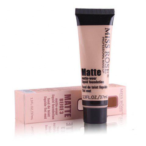 Best MISS ROSE 37ML Concealer Repair Nourishing Nude Makeup Foundation