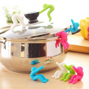 Creative Kitchen Utensils Silicone Pot Cover Anti-Overflow Device -