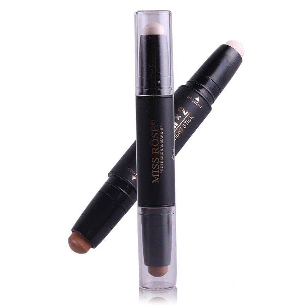 New MISS ROSE Double Head Highlighter Shading Concealer Stick