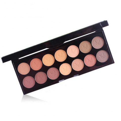 Trendy MISS ROSE 14 Pearlescent Matte Professional Makeup Multicolor Eyeshadow