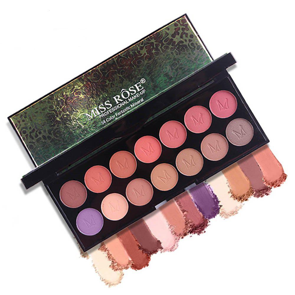 Latest MISS ROSE 14 Pearlescent Matte Professional Makeup Multicolor Eyeshadow