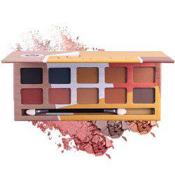 MISS ROSE 10 Color Pearl Matte Smoked Professional Makeup Eyeshadow -