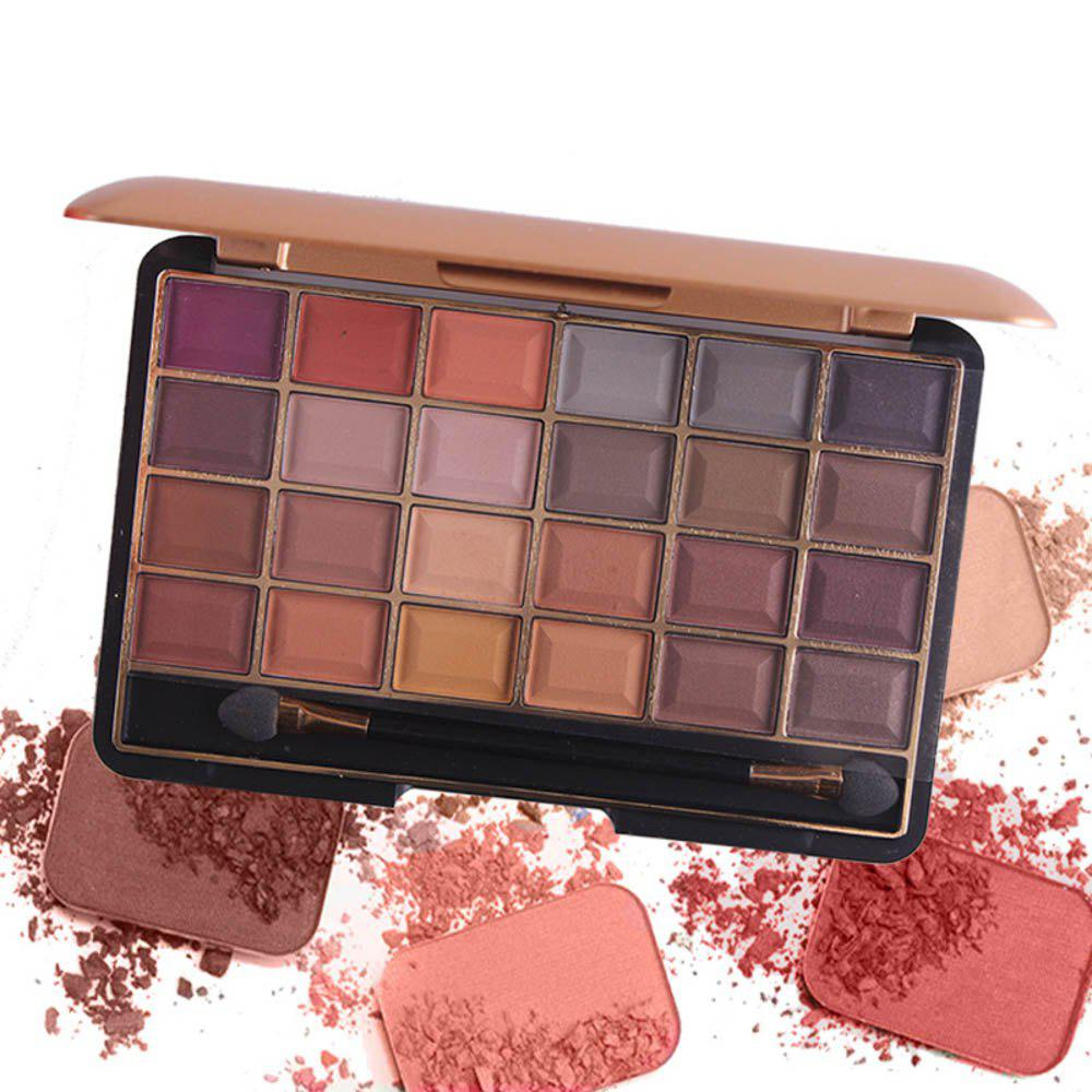 Best MISS ROSE 24 Color Pearlescent Matte Makeup Eyeshadow