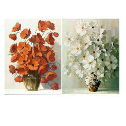 Nordic Simple Frameless Floral Ornemental Peinture à l'huile 2PCS -