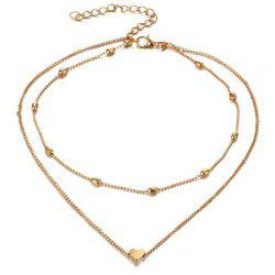 Ladies Fashion Simple Hearts Multilayer Necklace -