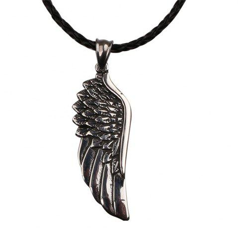 Outfit Men's Fashion Trend Wings of Angel Pendant Necklace