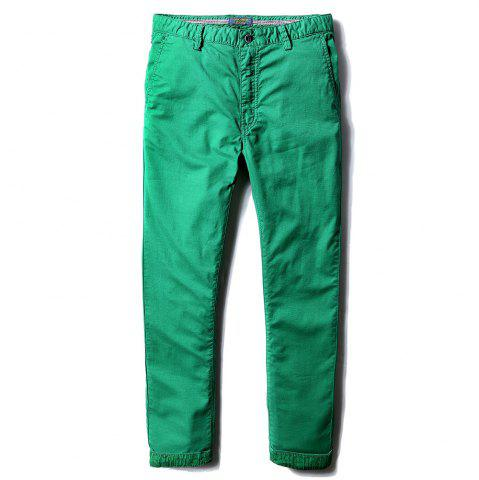Discount Man's Life Style Pure Cotton Straight Tube Casual Trousers