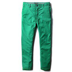 Man's Life Style Pure Cotton Straight Tube Casual Trousers -