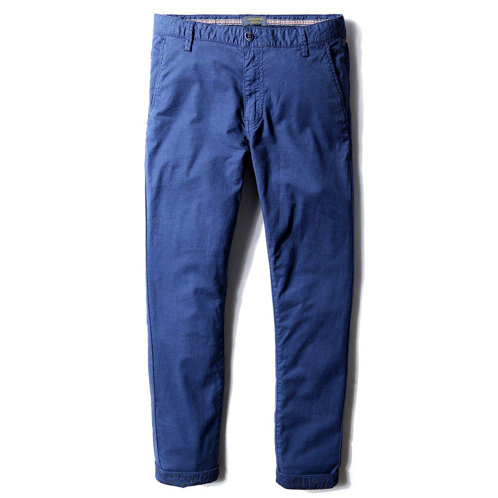 Unique Man's Life Style Pure Cotton Straight Tube Casual Trousers