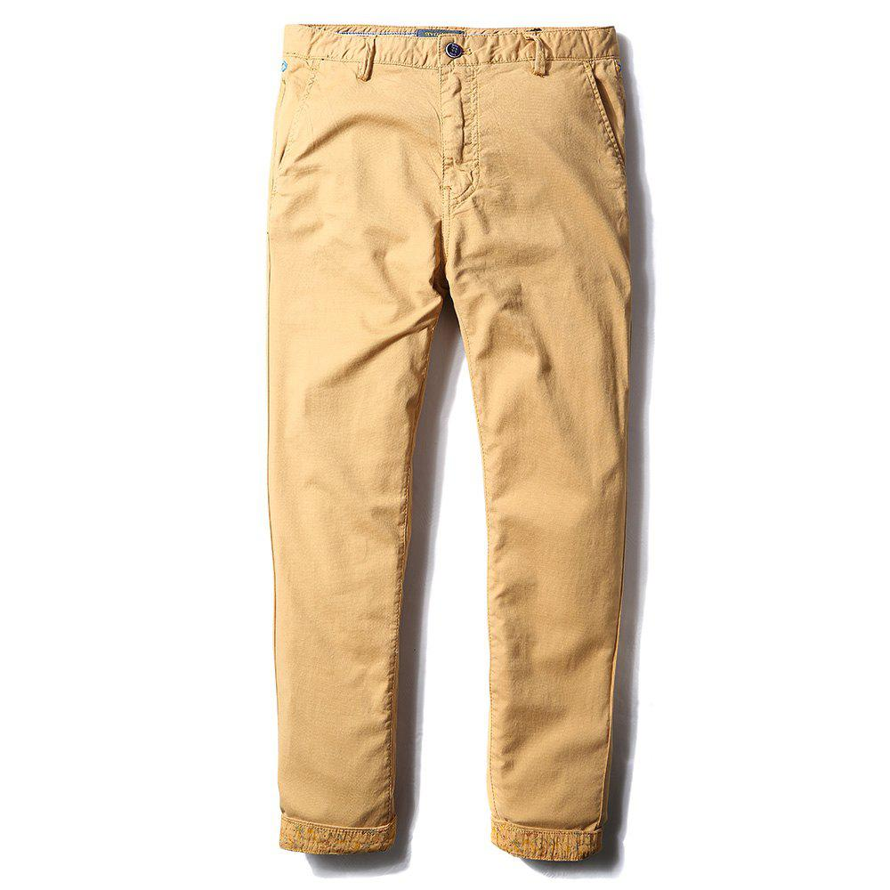 Chic Man's Life Style Pure Cotton Straight Tube Casual Trousers