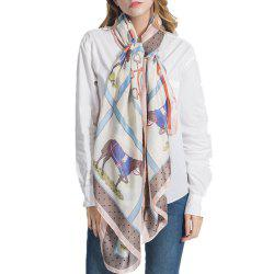 F1006 Like Silk Scarf Shawl Soft Lightweight Headscarf -
