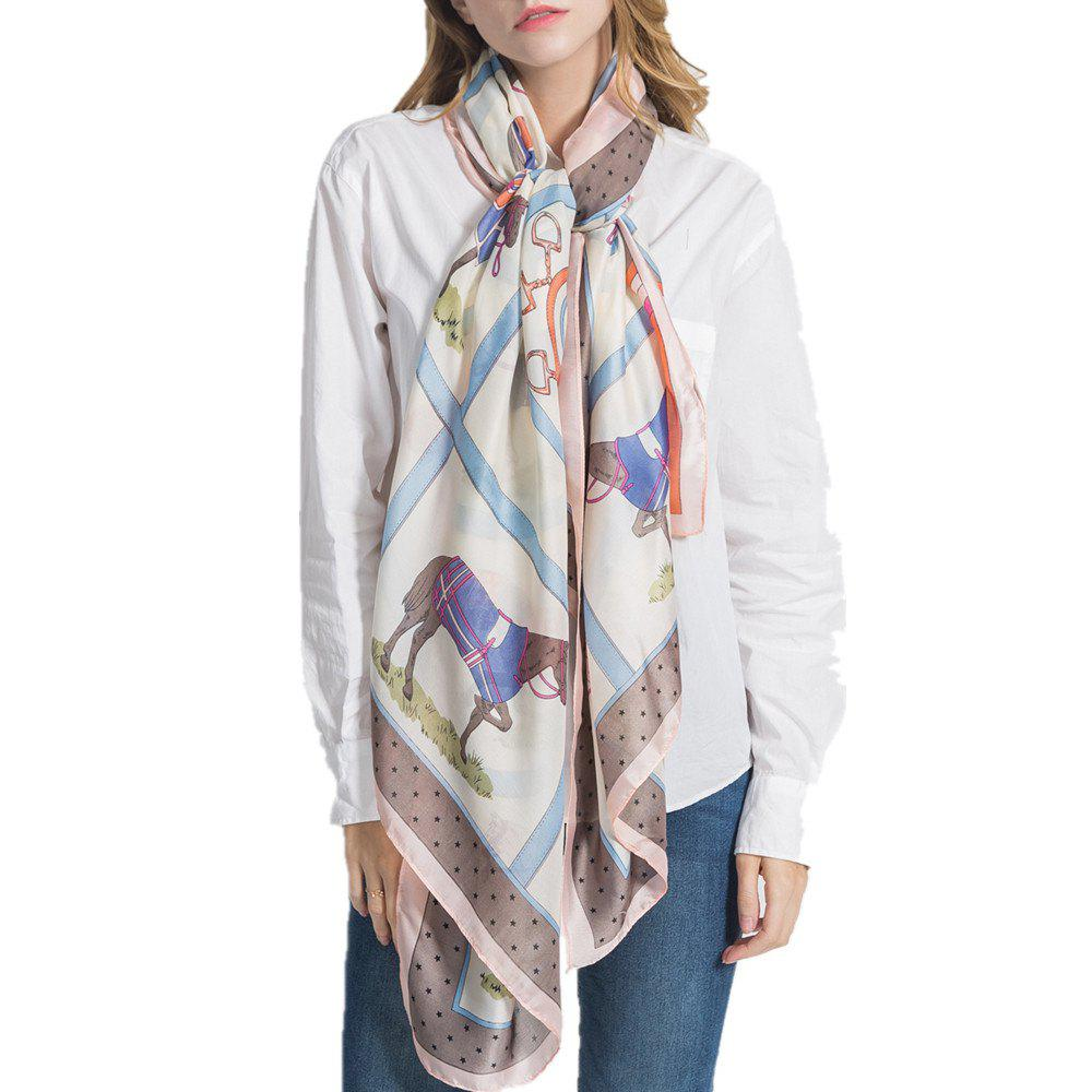 Shop F1006 Like Silk Scarf Shawl Soft Lightweight Headscarf
