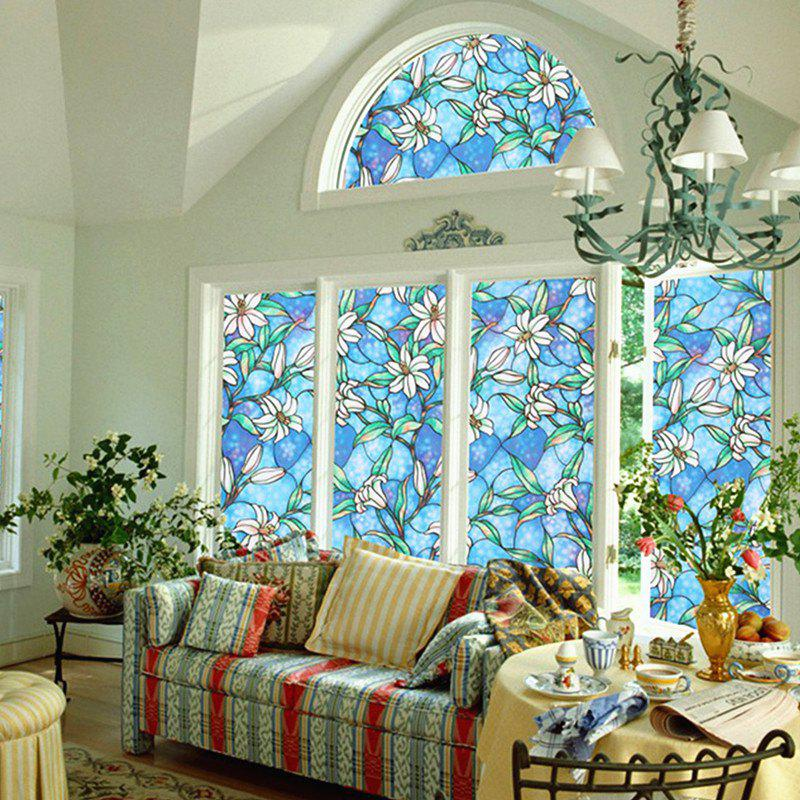 Discount Orchid Stained French Window Film Glazed Door Decorative Sticker