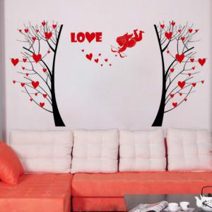Fower Tree Wall Sticker  Mural   Home Living Room Bedroom Decor -