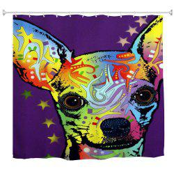 Watercolor Deer Water-Proof Polyester 3D Printing Bathroom Shower Curtain -