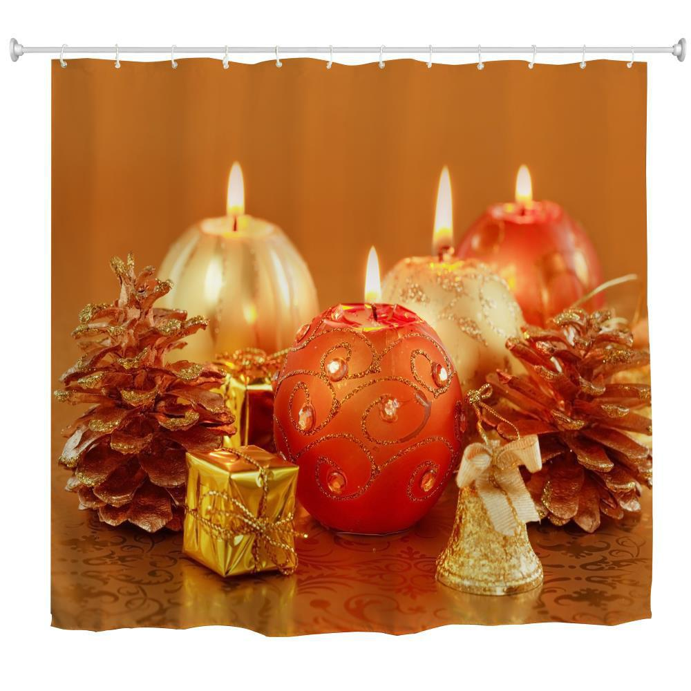 Affordable Aromatherapy Candles Water-Proof Polyester 3D Printing Bathroom Shower Curtain
