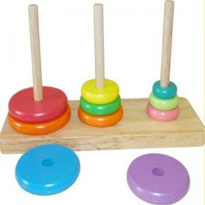 Tower of Hanoi Educational Wooden Classic Mathematical Puzzle Toys -