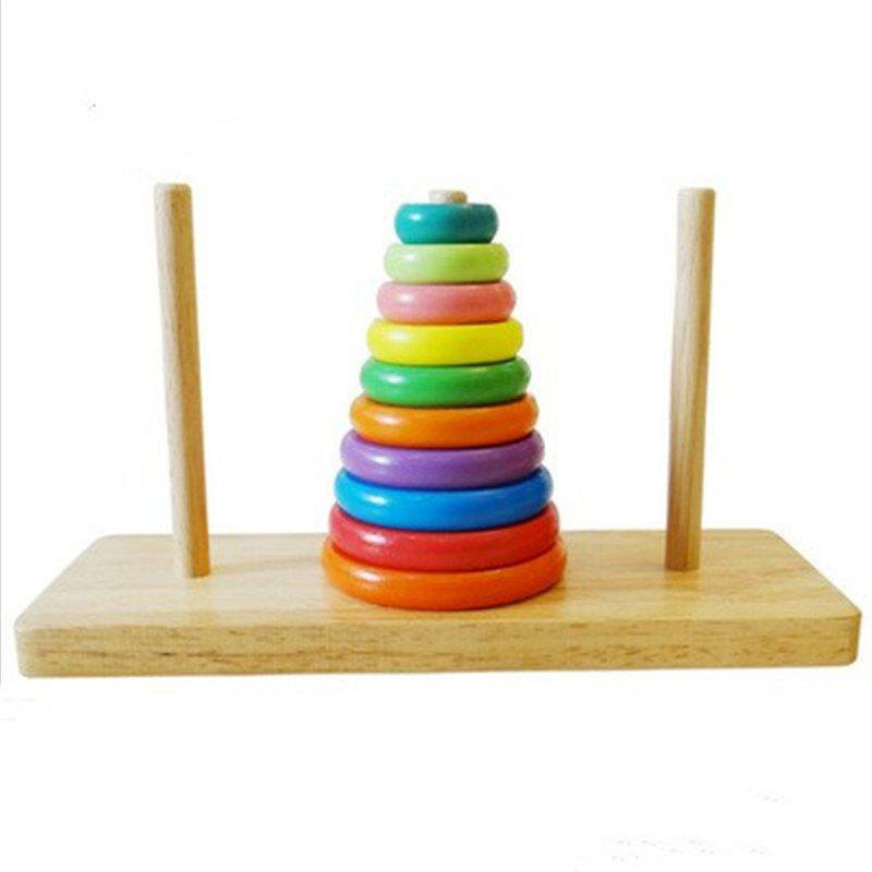 Hot Tower of Hanoi Educational Wooden Classic Mathematical Puzzle Toys