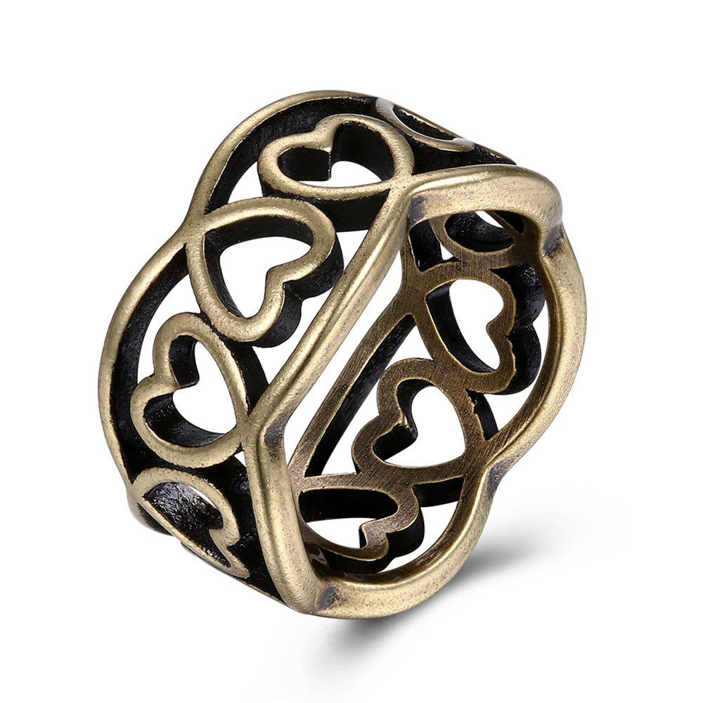 Best Vintage Hollow Out Heart Shape Ring Charm Jewelry