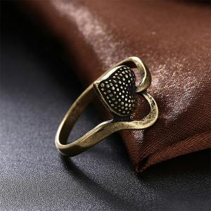 Vintage Heart Shape Ring Charm Jewelry -