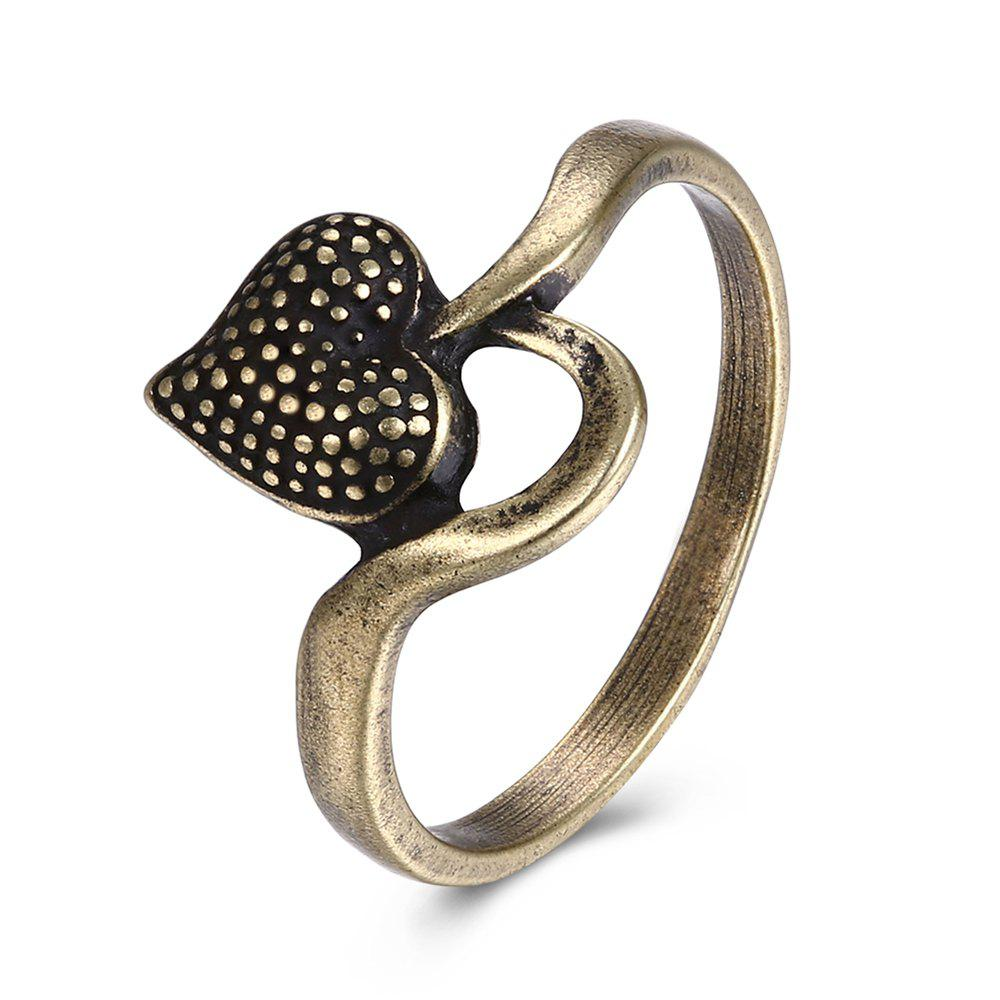 Latest Vintage Heart Shape Ring Charm Jewelry
