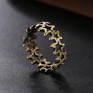 Vintage Hollow Out Pentagram Ring Charm Jewelry -