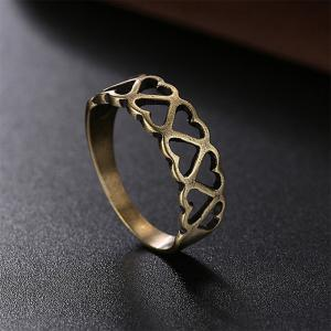 Vintage Hollow Out Heart Ring Charm Jewelry -