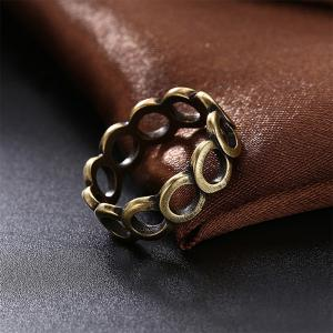 Vintage Creative Hollow Out Circular Ring -