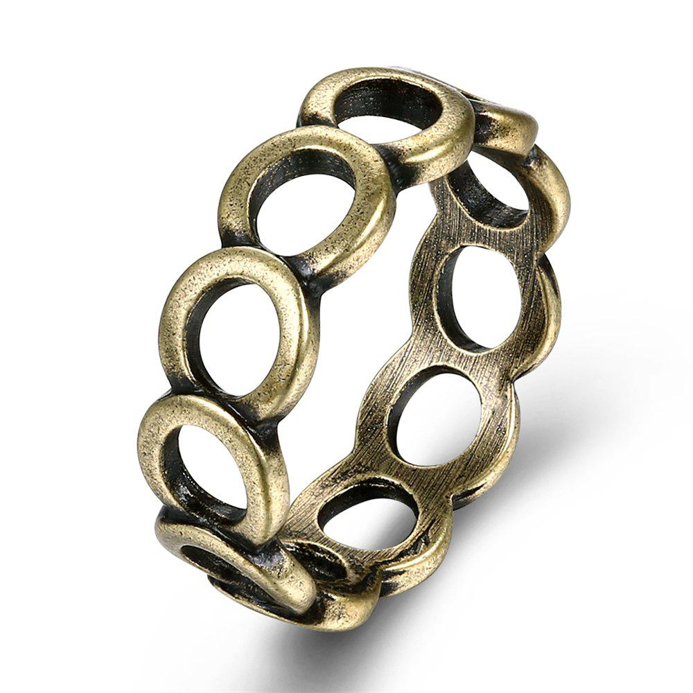 Shop Vintage Creative Hollow Out Circular Ring