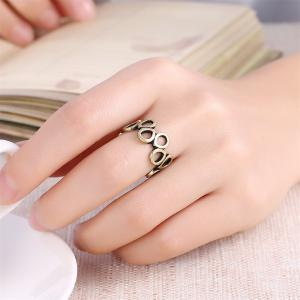 Vintage Hollow Out Oval Ring Charm Jewelry -