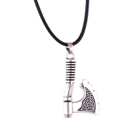 Slave Vintage Axe Collier en cuir de corde Men Jewerly