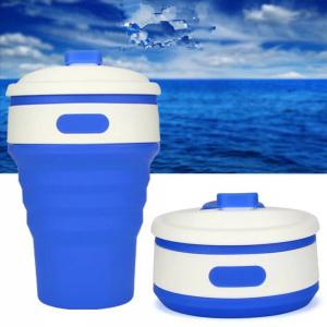 Silica Gel Folding Portable Water Cup Bottle for Sporting Yoga Running -