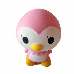 New Jumbo Squishy Slow Rebound PU Toy Pink Little Penguin Toy -