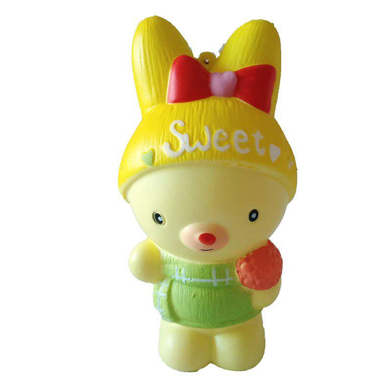 Online New Slow Rebound Toy Jumbo Squishy PU Bow Bear Toy Model