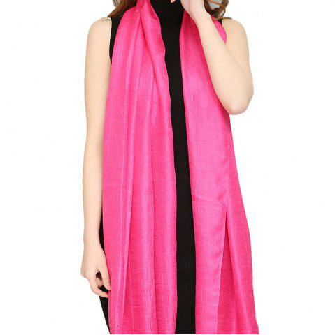 Online Solid Color Scarf Pearlescent Texture Holland Long Silk Shawl