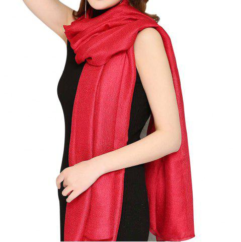 Shops Solid Color Scarf Pearlescent Texture Holland Long Silk Shawl