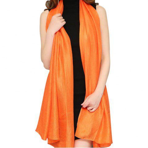 Outfit Solid Color Scarf Pearlescent Texture Holland Long Silk Shawl