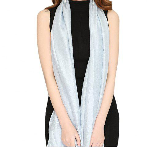 Shop Solid Color Scarf Pearlescent Texture Holland Long Silk Shawl