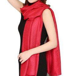 Solid Color Scarf Pearlescent Texture Holland Long Silk Shawl -