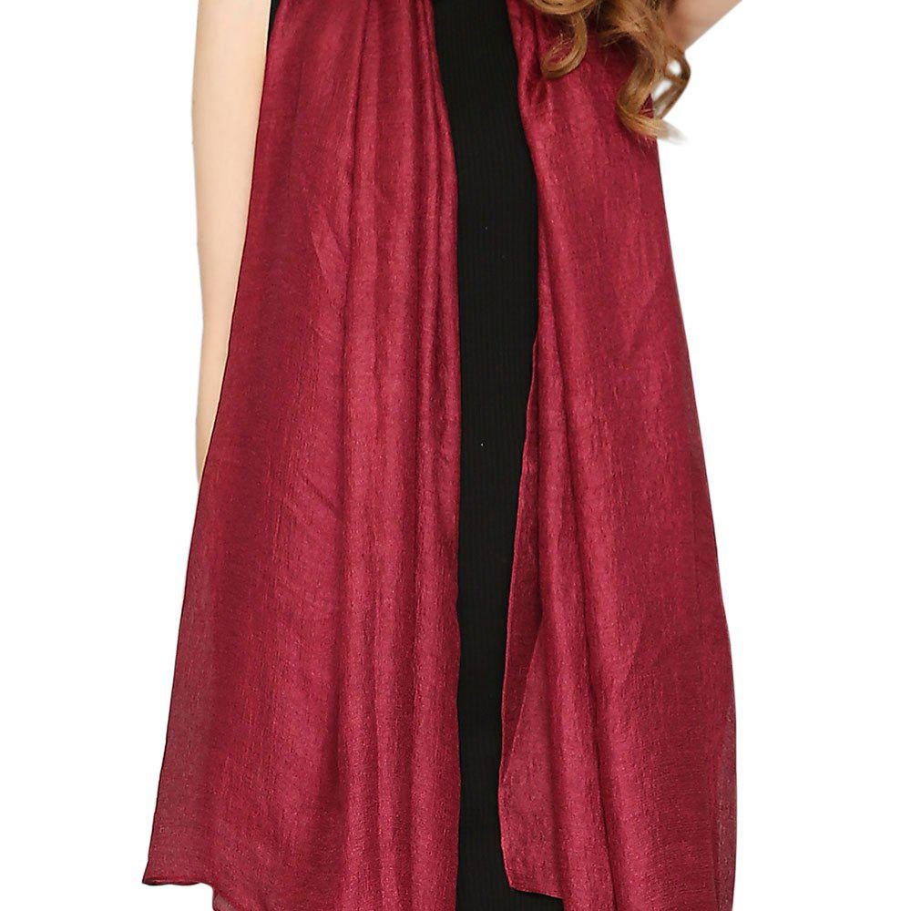 Store Solid Color Scarf Pearlescent Texture Holland Long Silk Shawl