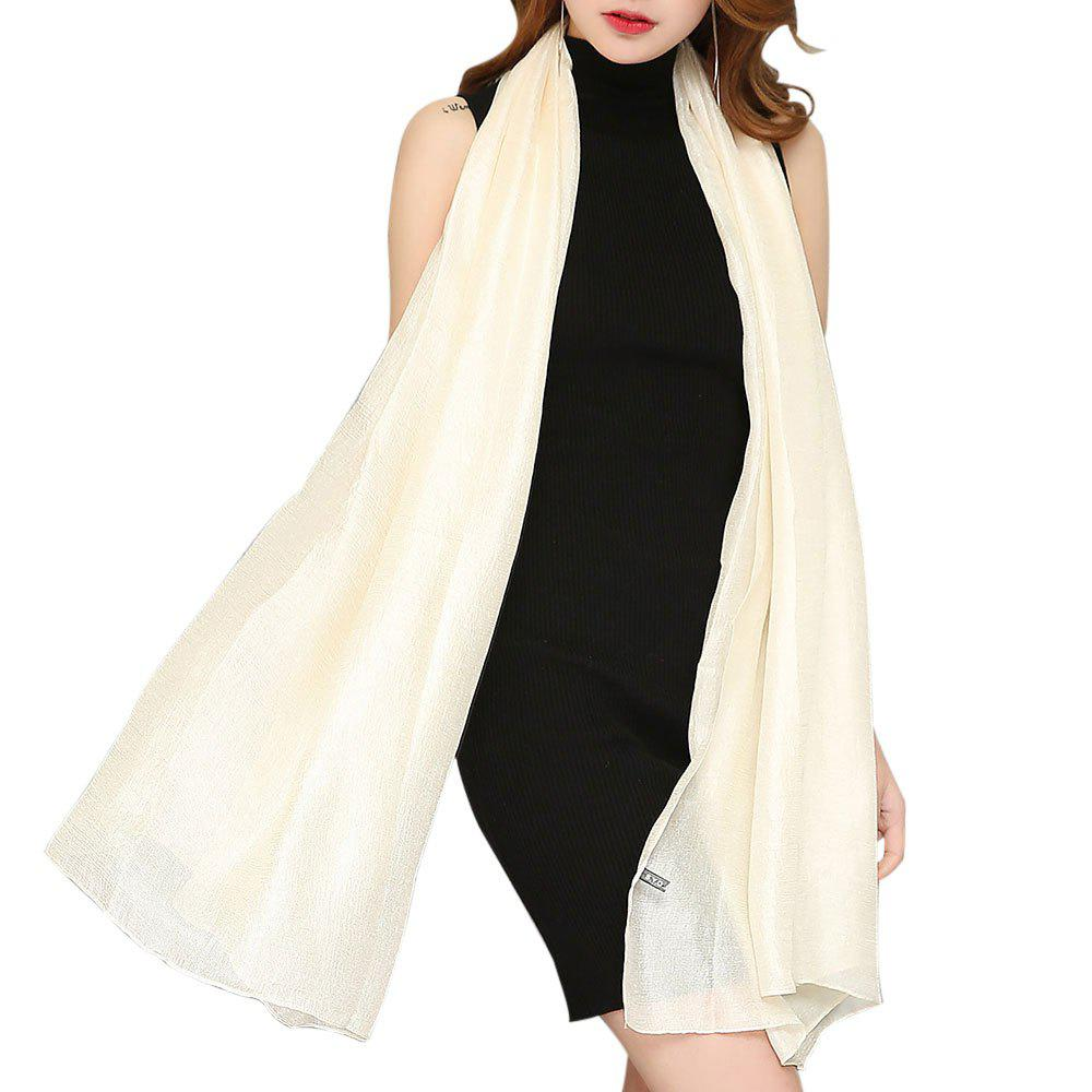 Discount Solid Color Scarf Pearlescent Texture Holland Long Silk Shawl