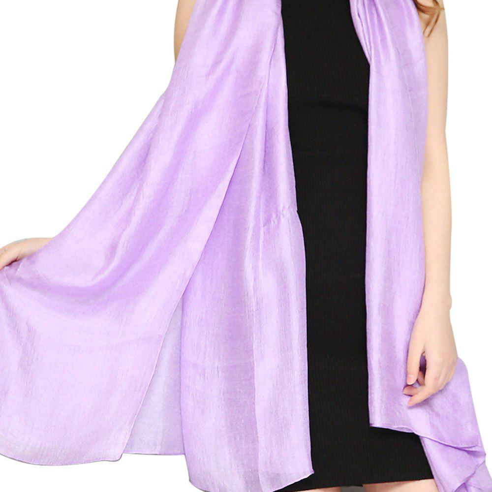 Unique Solid Color Scarf Pearlescent Texture Holland Long Silk Shawl